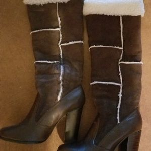 Tall knee high suede Boots